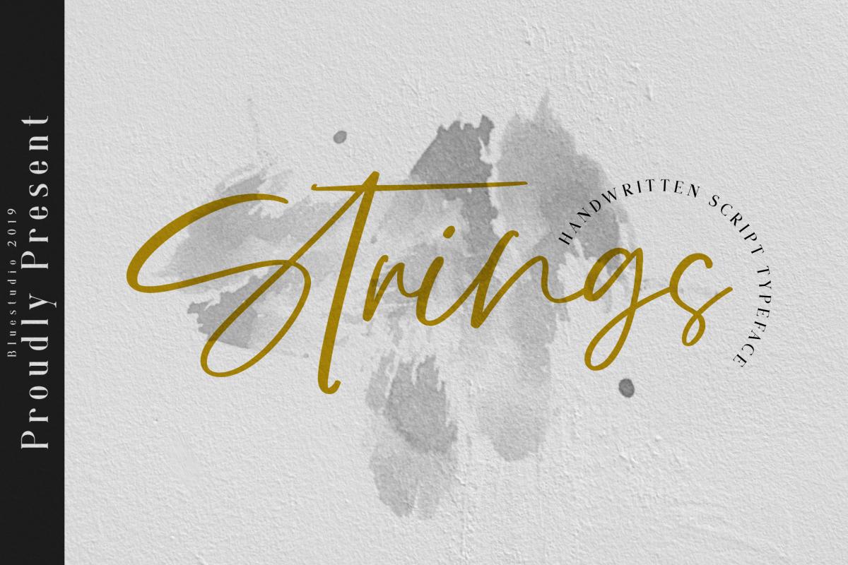 Strings // Handwritten Script Font example image 1