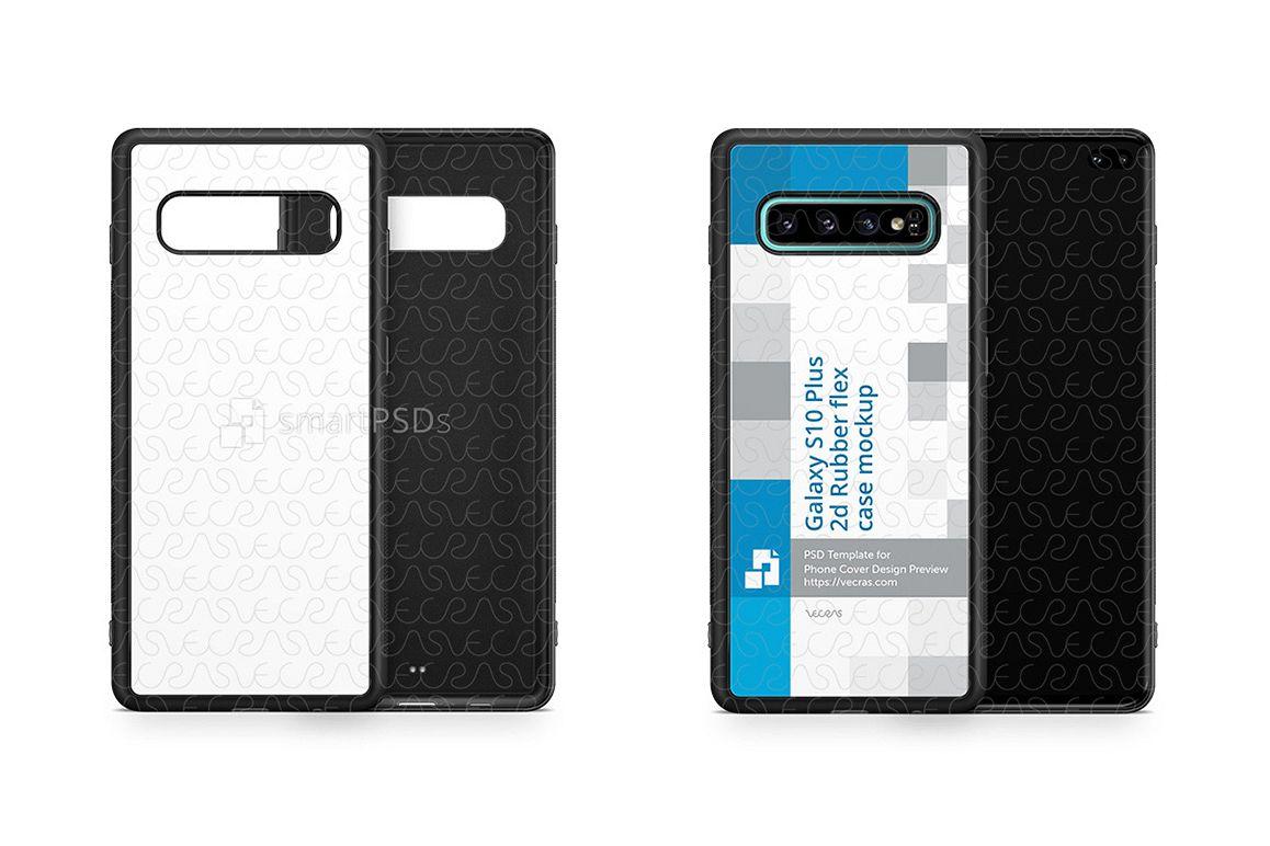 Galaxy S10 Plus 2d RubberFlex Case Design Mockup 2019 example image 1