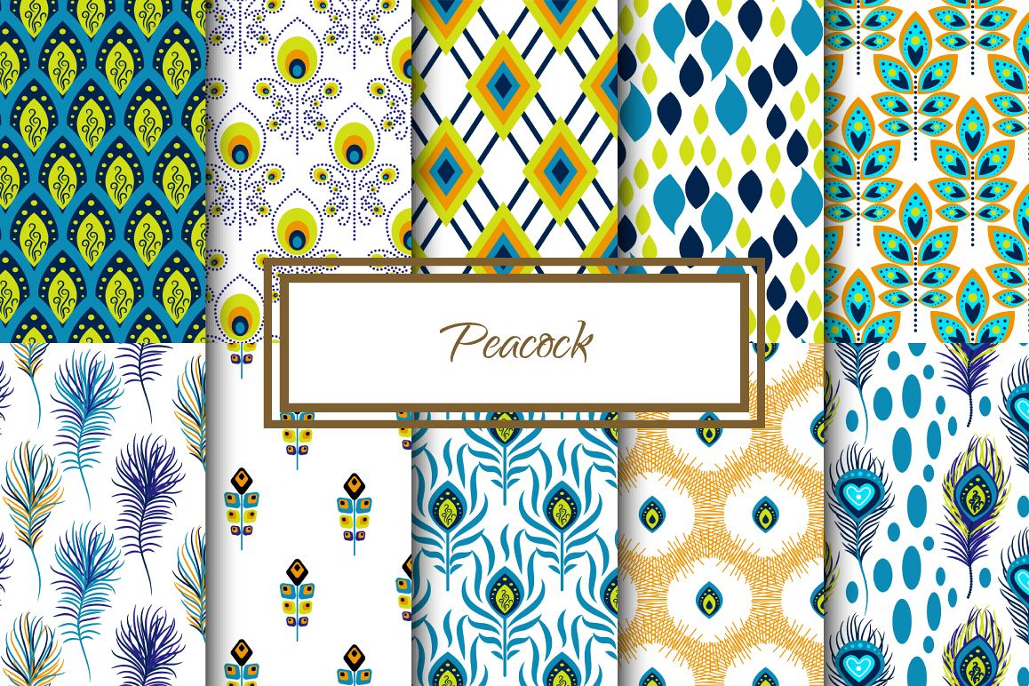 Peacock Feather Patterns example image 1