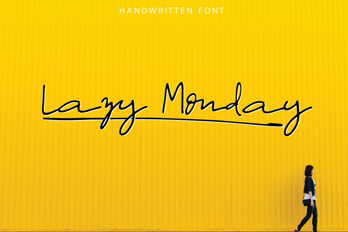 Lazy Monday | Script Font example image 1