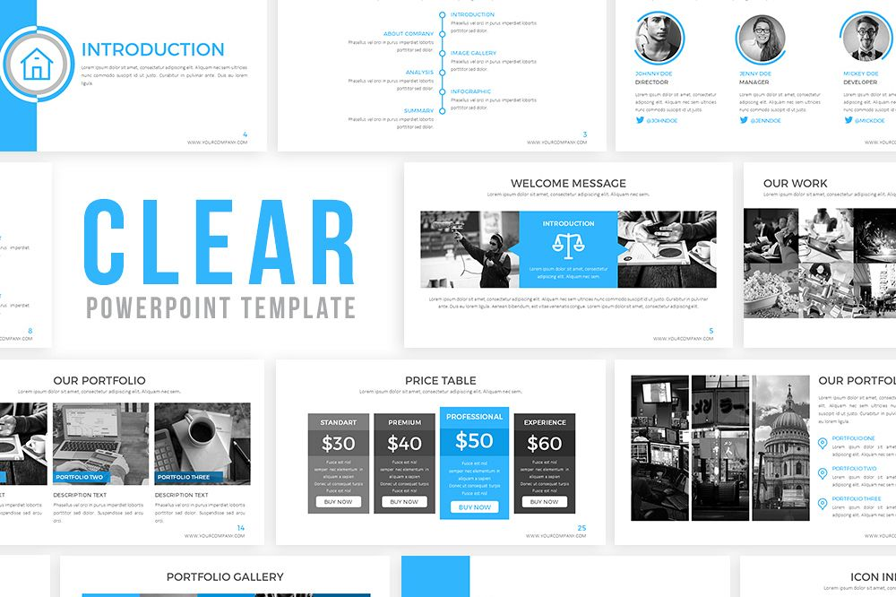 Clear Powerpoint Template example image 1