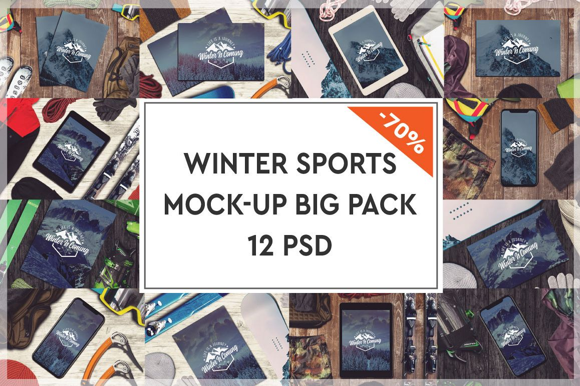 Winter Sports Mock-up Big Pack #1 example image 1