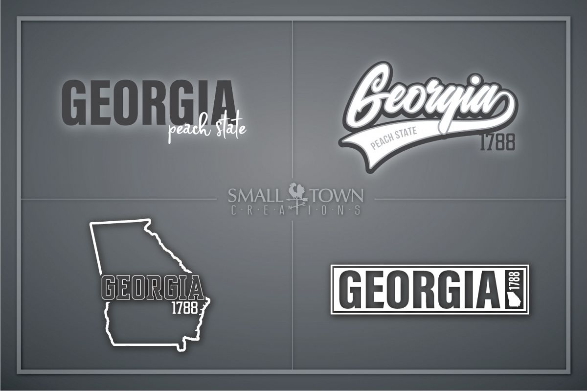 Georgia, Peach State - slogan, logo, PRINT, CUT & DESIGN example image 1