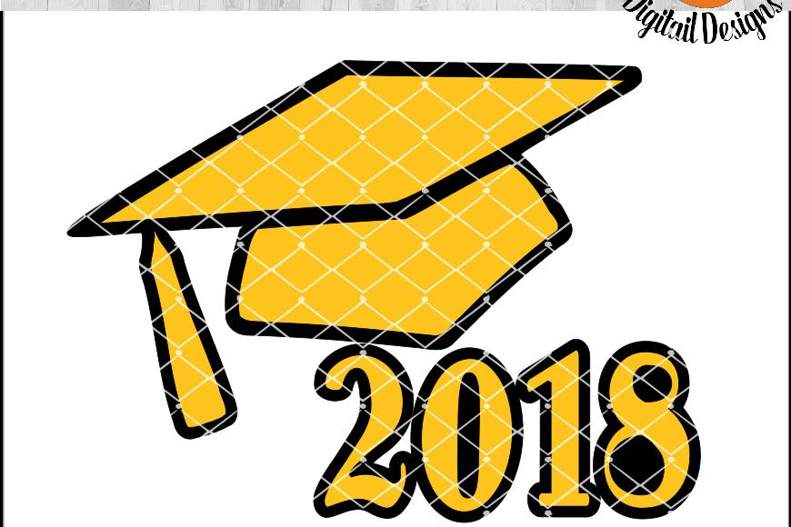 Class of 2018 SVG - png - eps - dxf - ai - fcm - Graduation SVG - Silhouette - Cricut - Scan N Cut - Grad SVG example image 1