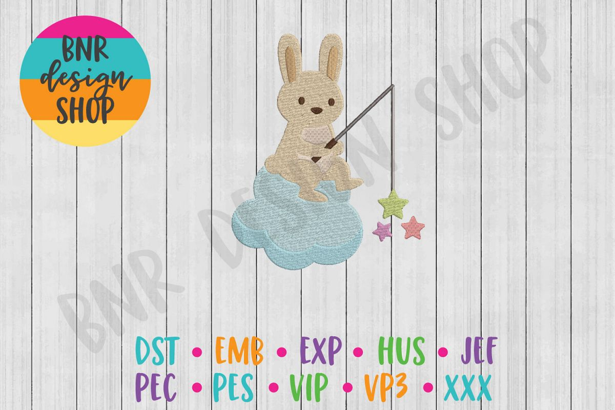 Bunny Machine Embroidery Design example image 1