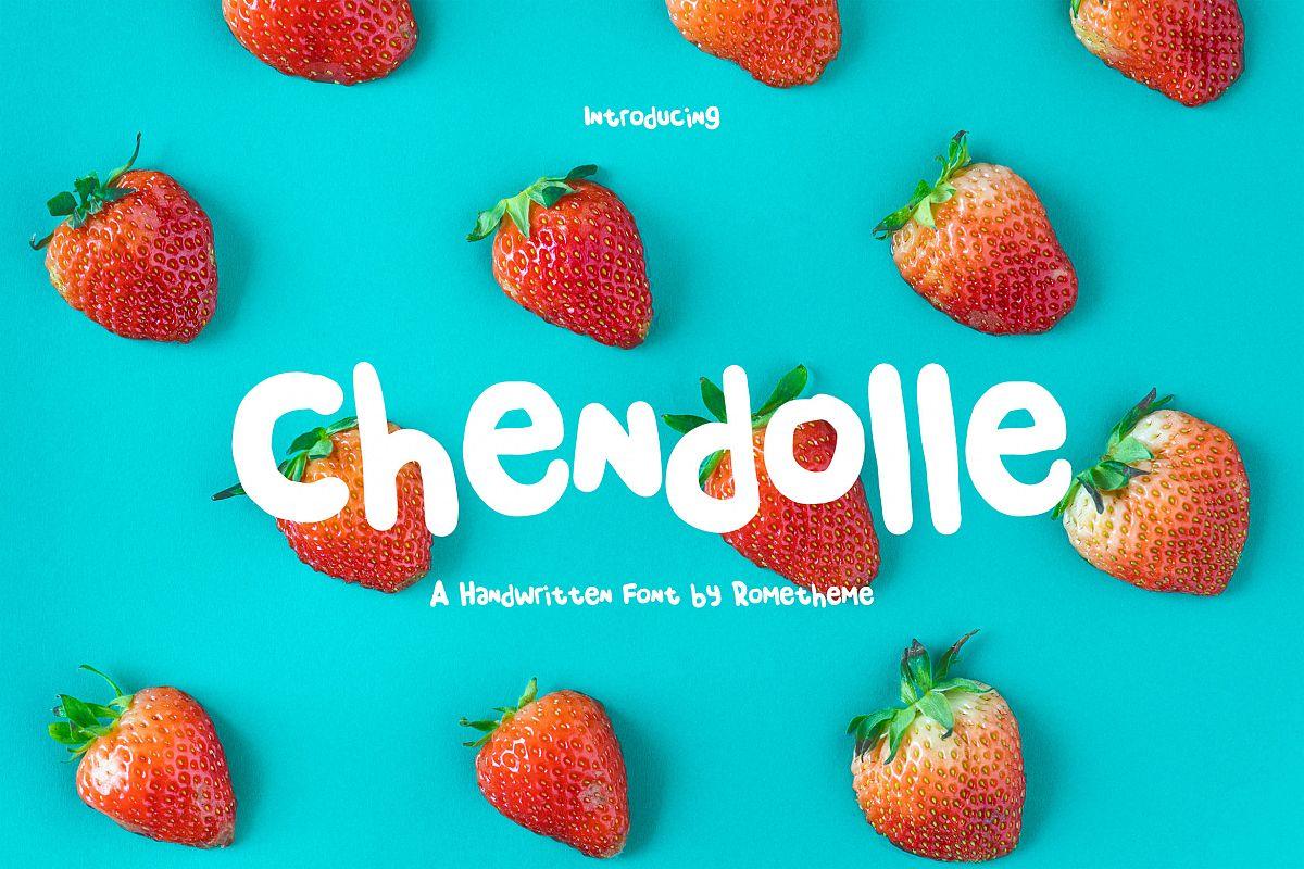 Chendolle - Fun Handwritten Font example image 1