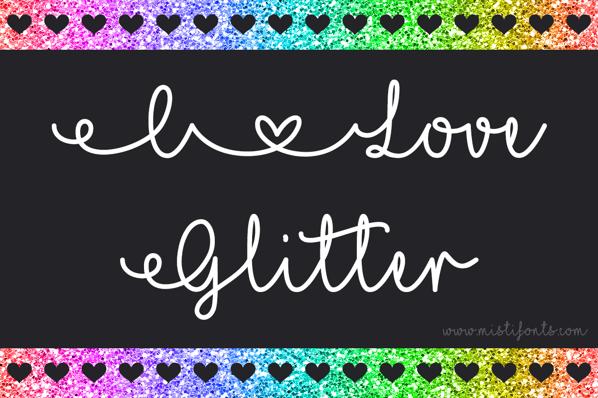 I Love Glitter example image 1