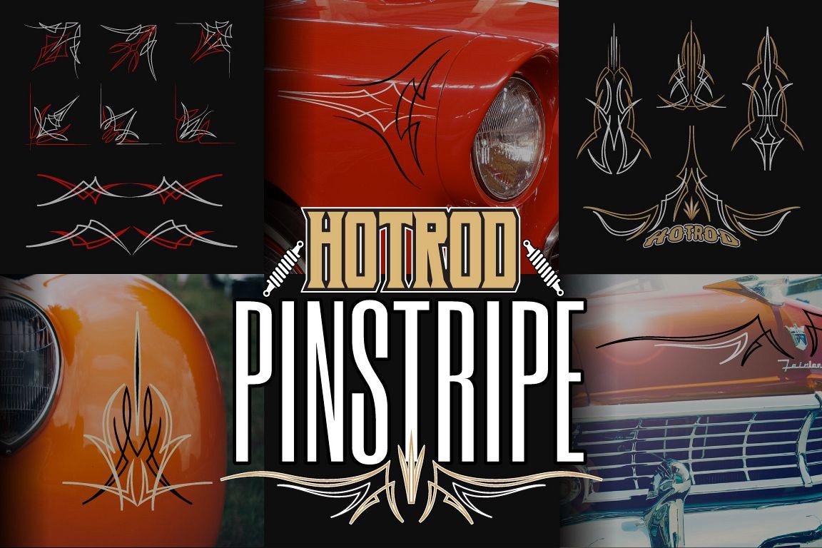 Hotrod Pinstripe Decoration & Design Elements example image 1