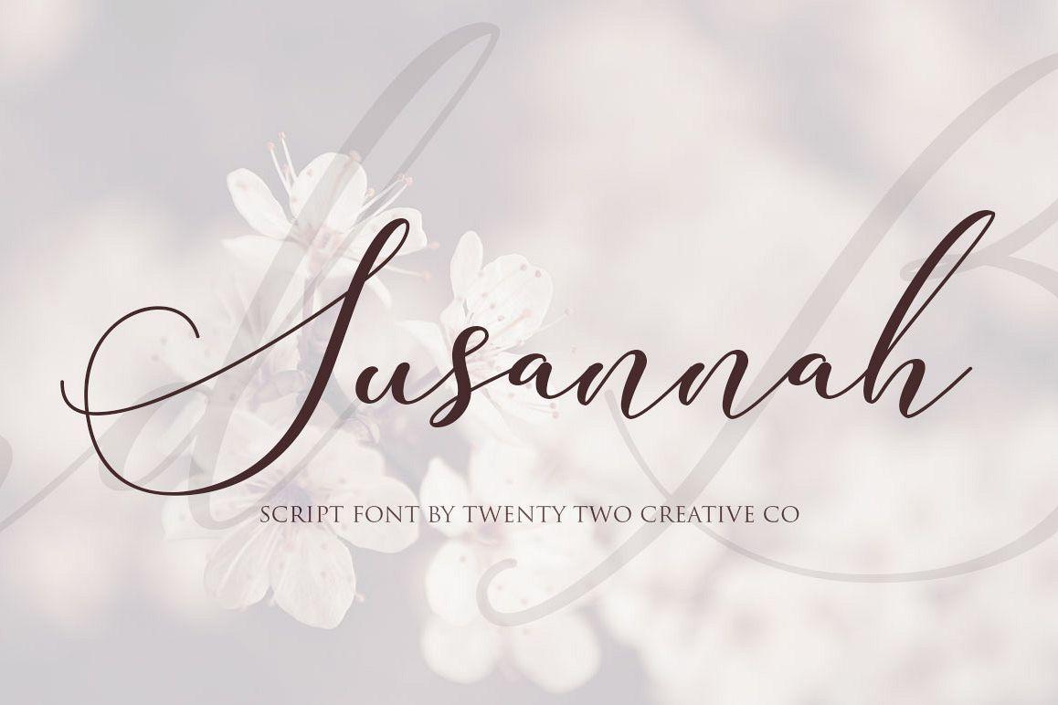 Susannah - an elegant script font example image 1