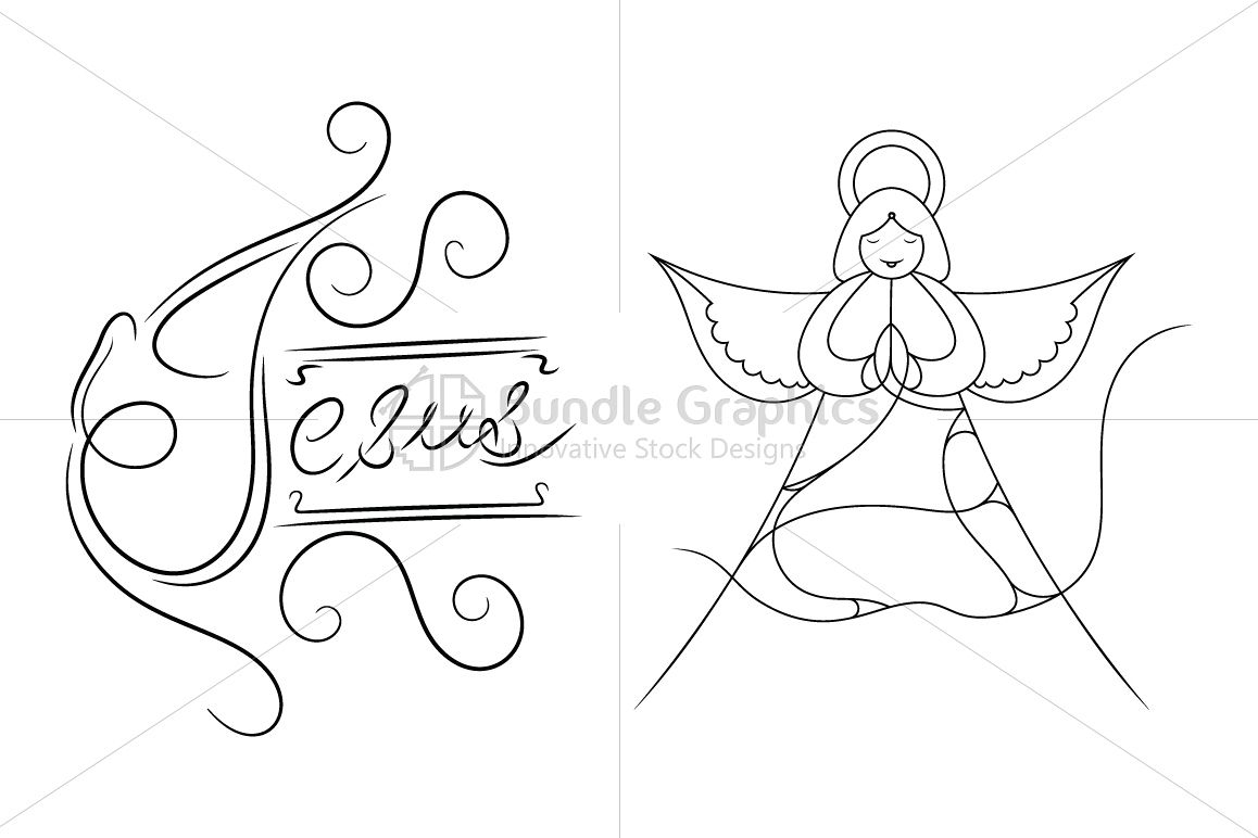 Jesus and the Angel - Illustration example image 1