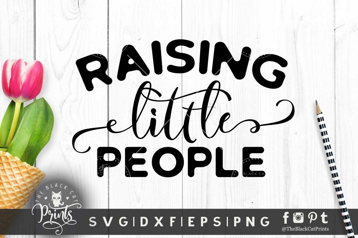 Raising little people SVG DXF PNG EPS example image 1