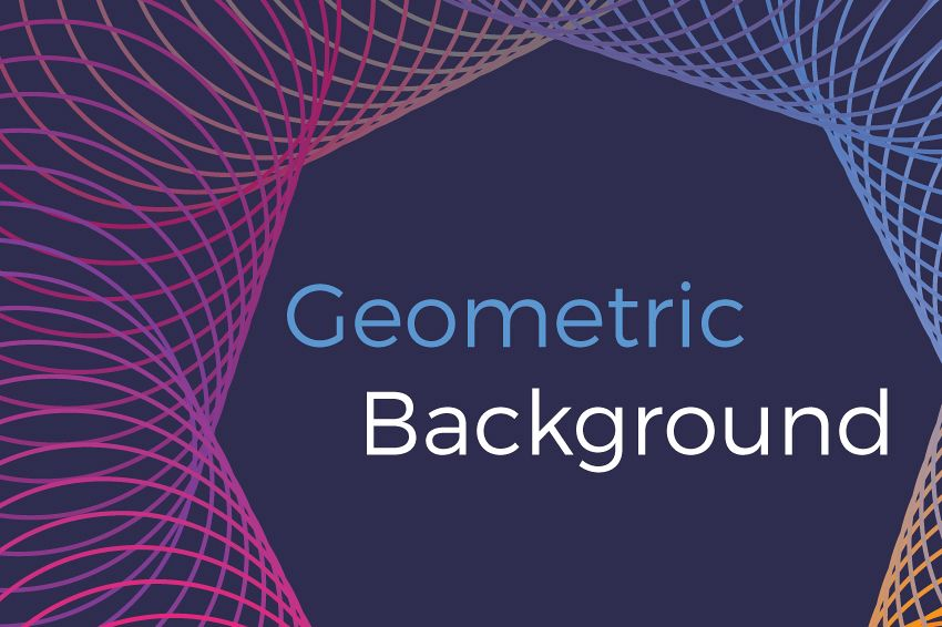 Geometric vector backgrounds example image 1