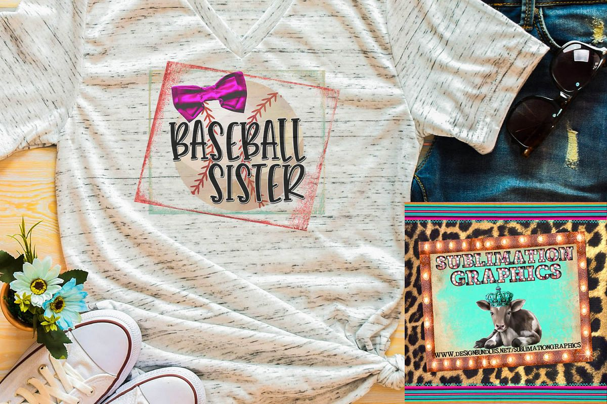 Baseball Sister Sublimation Download example image 1