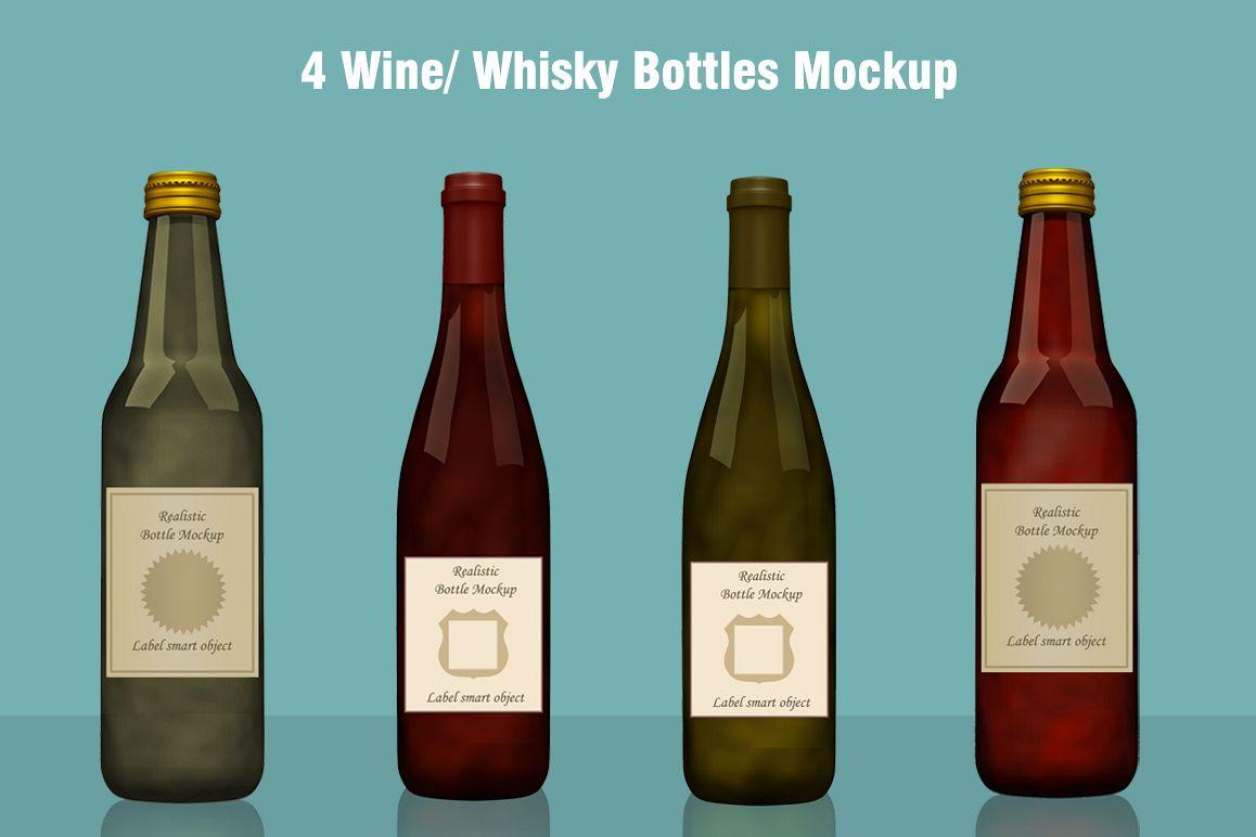 Whisky / Wine Bottle Mockup example image 1