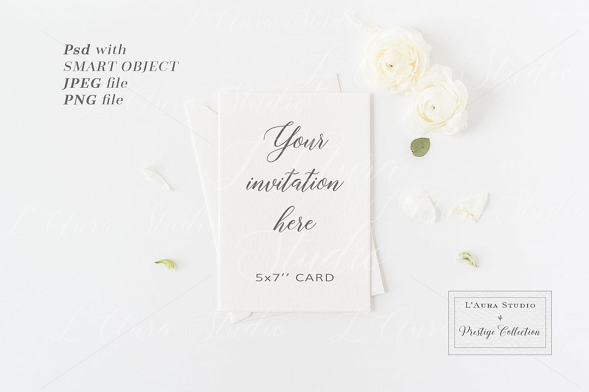 Floral 5x7 Card Mockup - crd232 example image 1