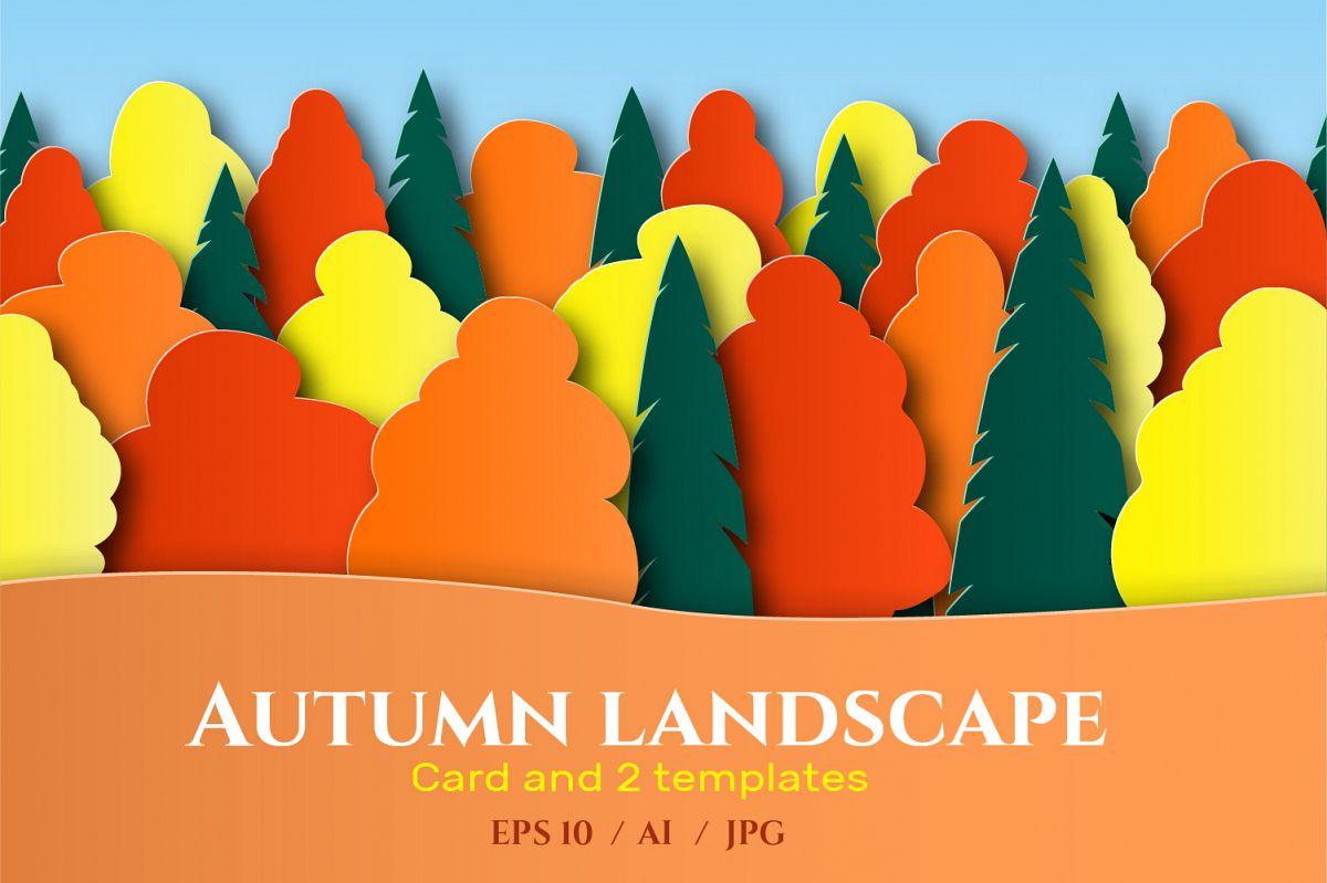 Autumn landscape paper cut example image 1