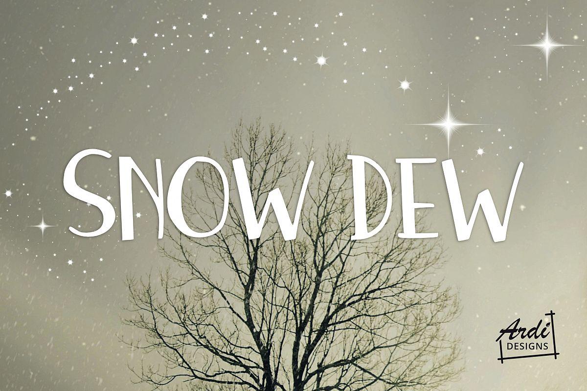 Snow Dew Font example image 1