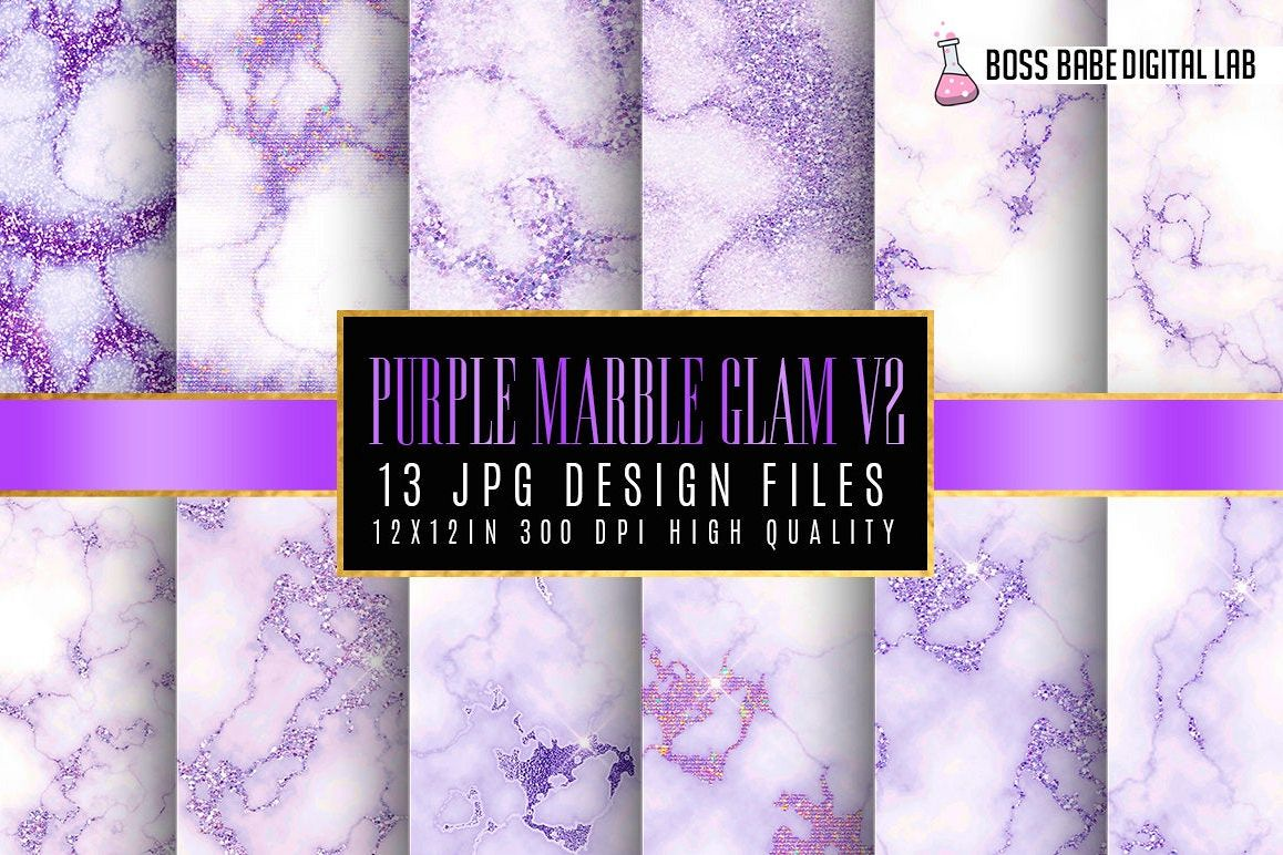 Purple Marlbe Glam Digital Papers Volume 2 example image 1