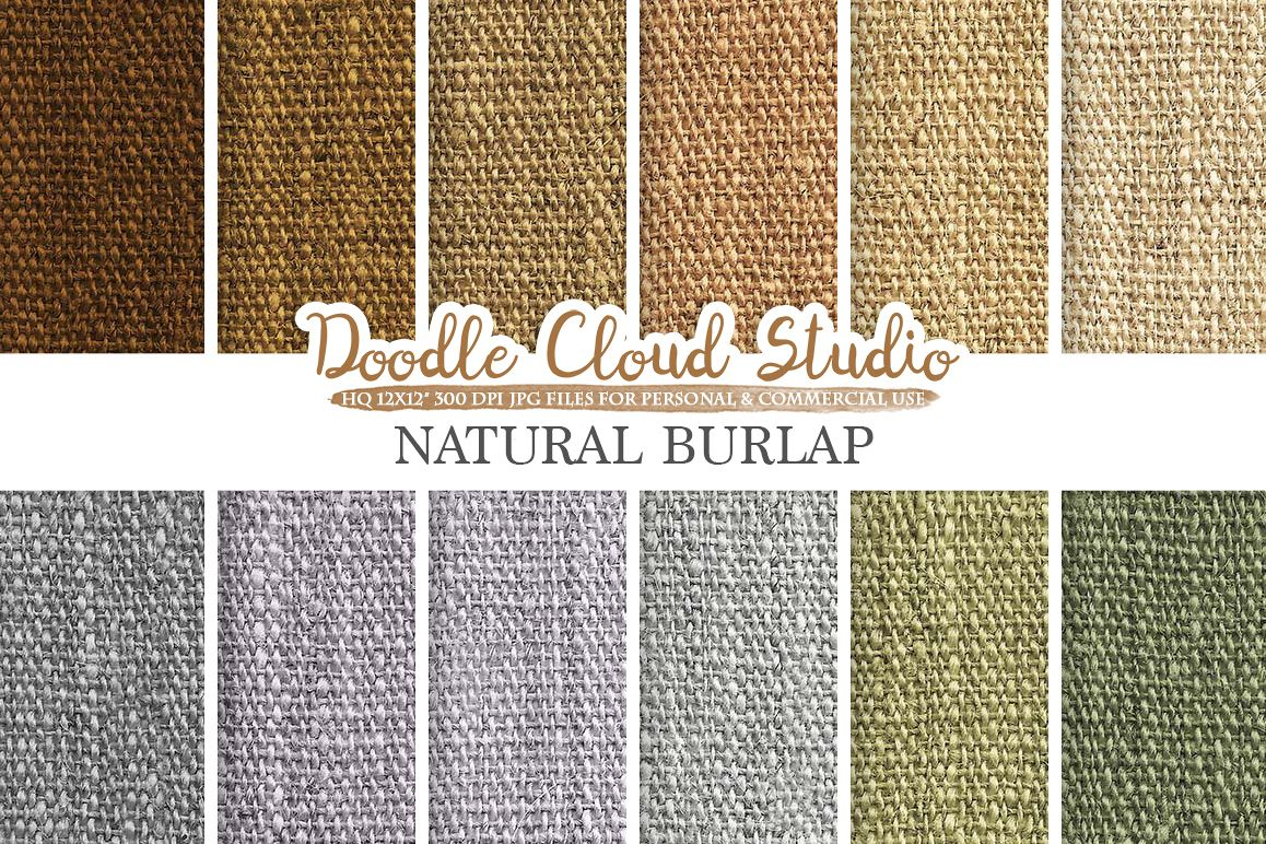 Natural Burlap Fabric digital paper pack, Solid Backgrounds, Burlap linen vintage printables, Instant Download for Personal & Commercial Use example image 1