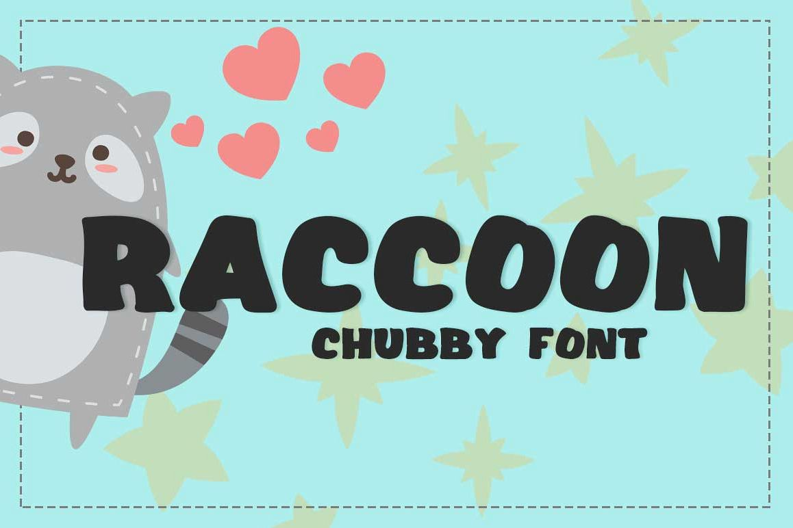 Raccoon Font example image 1