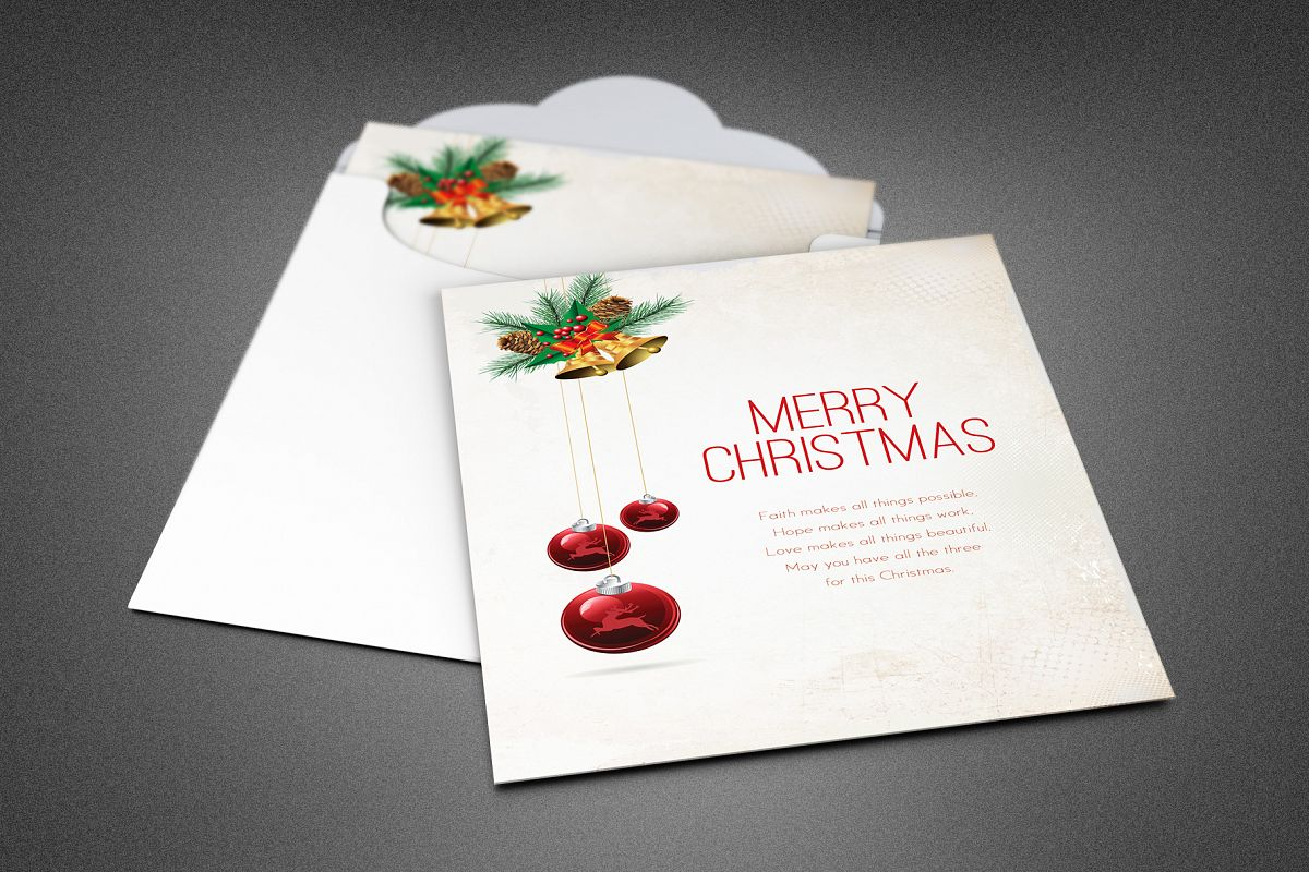 Merry Christmas Greeting Card example image 1