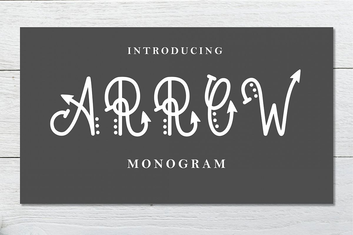 Arrow Monogram example image 1