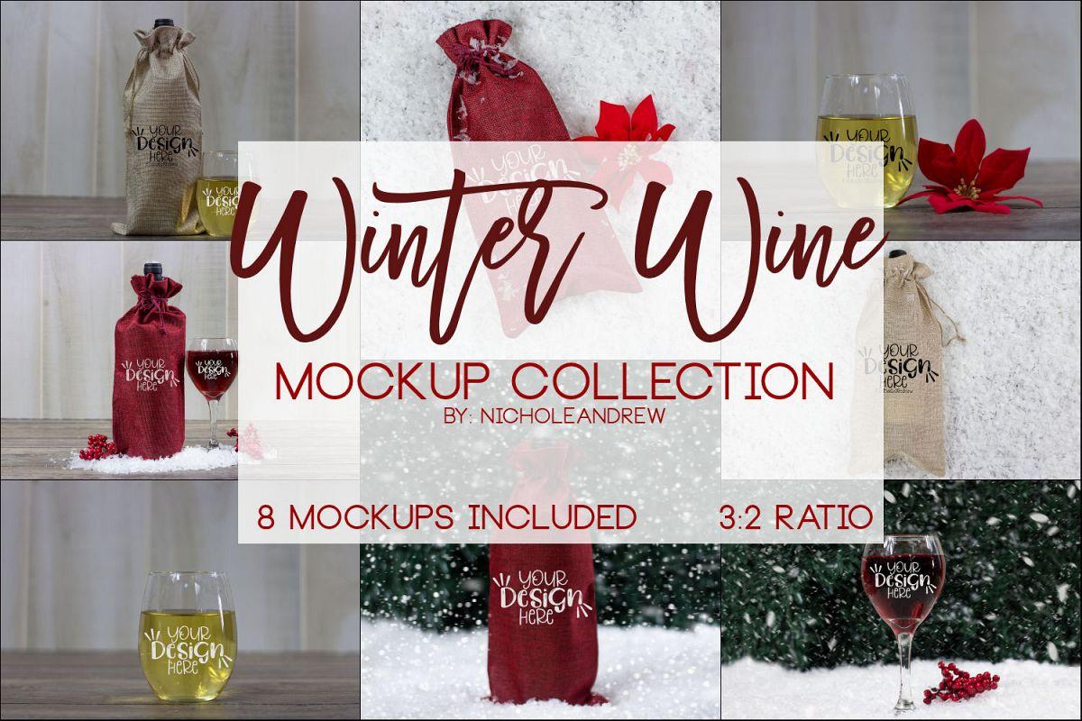 Winter Wine Mock Up Bundle example image 1