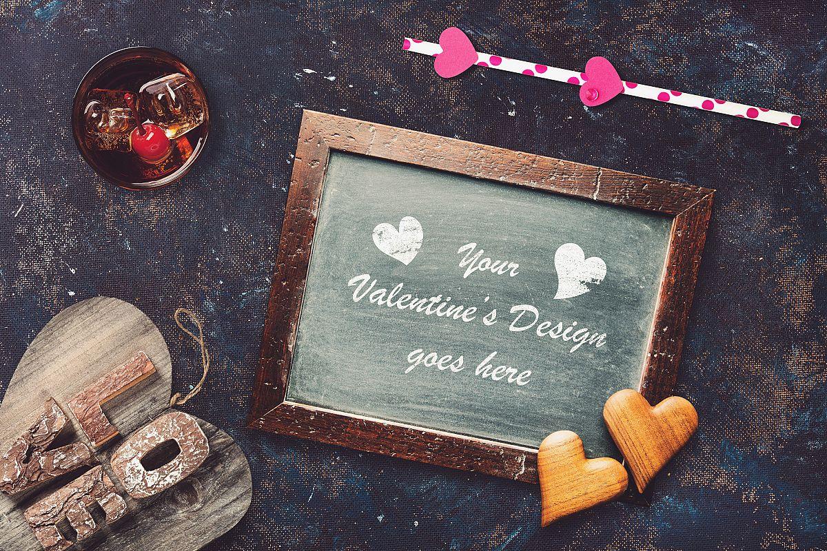Valentine Chalkboard Mock-up #2 example image 1