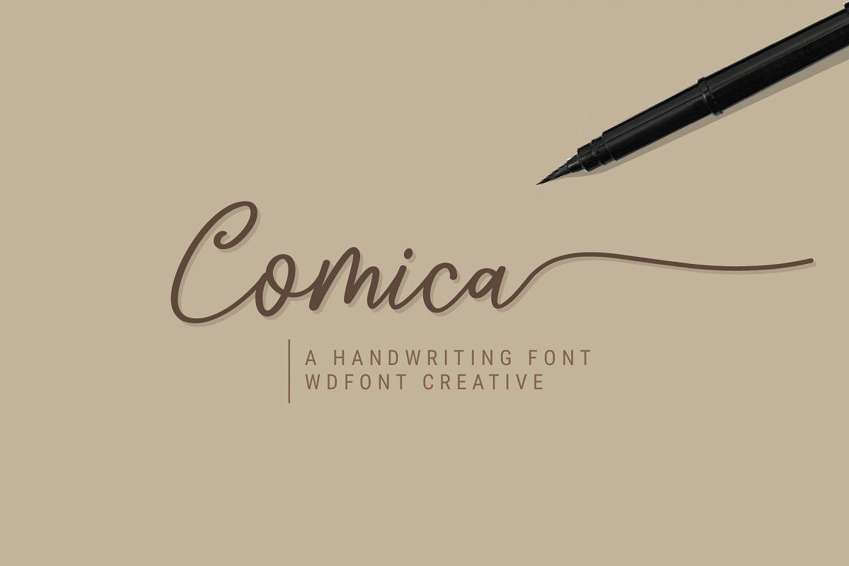Comica Script Font example image 1