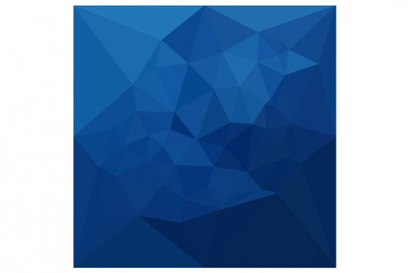Egyptian Blue Abstract Low Polygon Background example image 1