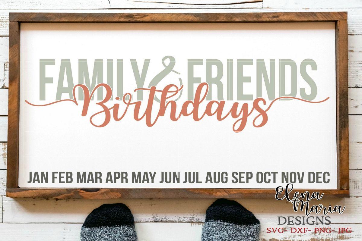 Family Birthday Calendar Diy Sign Svg Design Bundles
