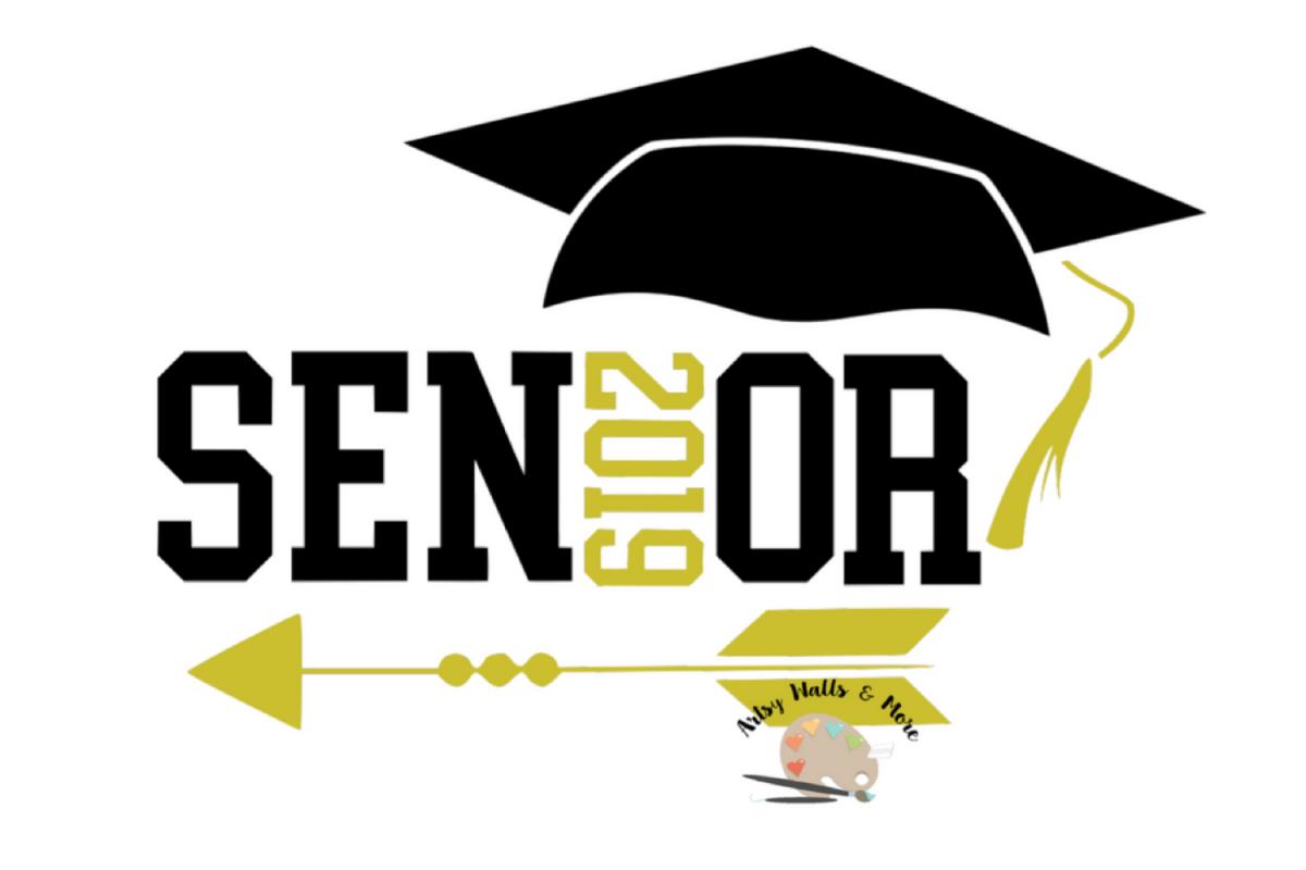 senior 2019 svg cut file senior graduat design bundles number one clip art in pink number one clip art free