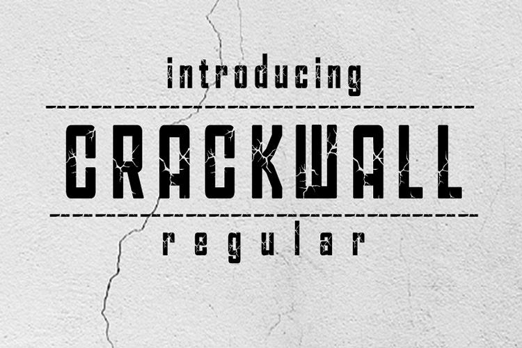 CRACKWALL Font example image 1