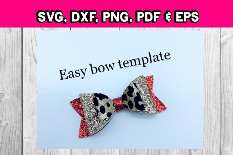 Hair Bow Template Simple Bow Template Diy Hair Bow Svg