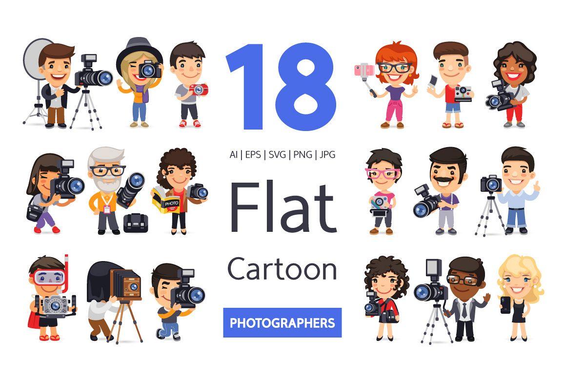Photographers Cartoon Characters example image 1