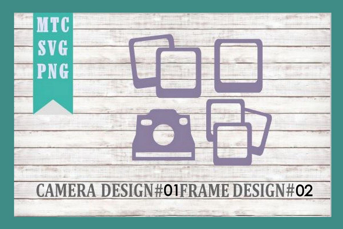 Polaroid Camera 01 & Film Frames 02 SVG Cut File example image 1