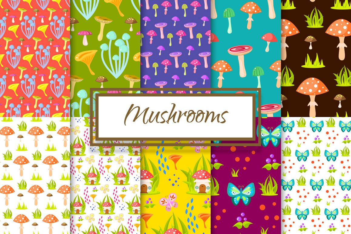 Magic Mushroom Patterns example image 1