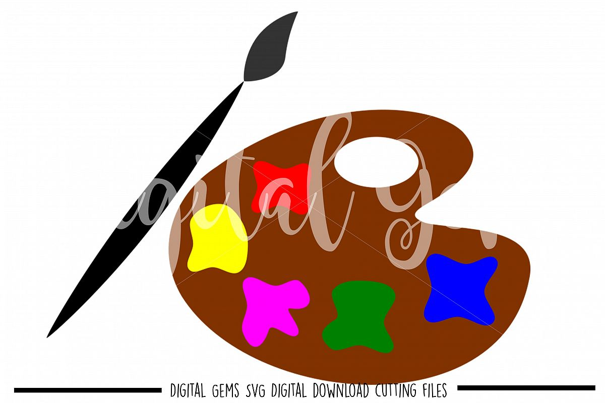 Paint pallet SVG / EPS / DXF / PNG files example image 1