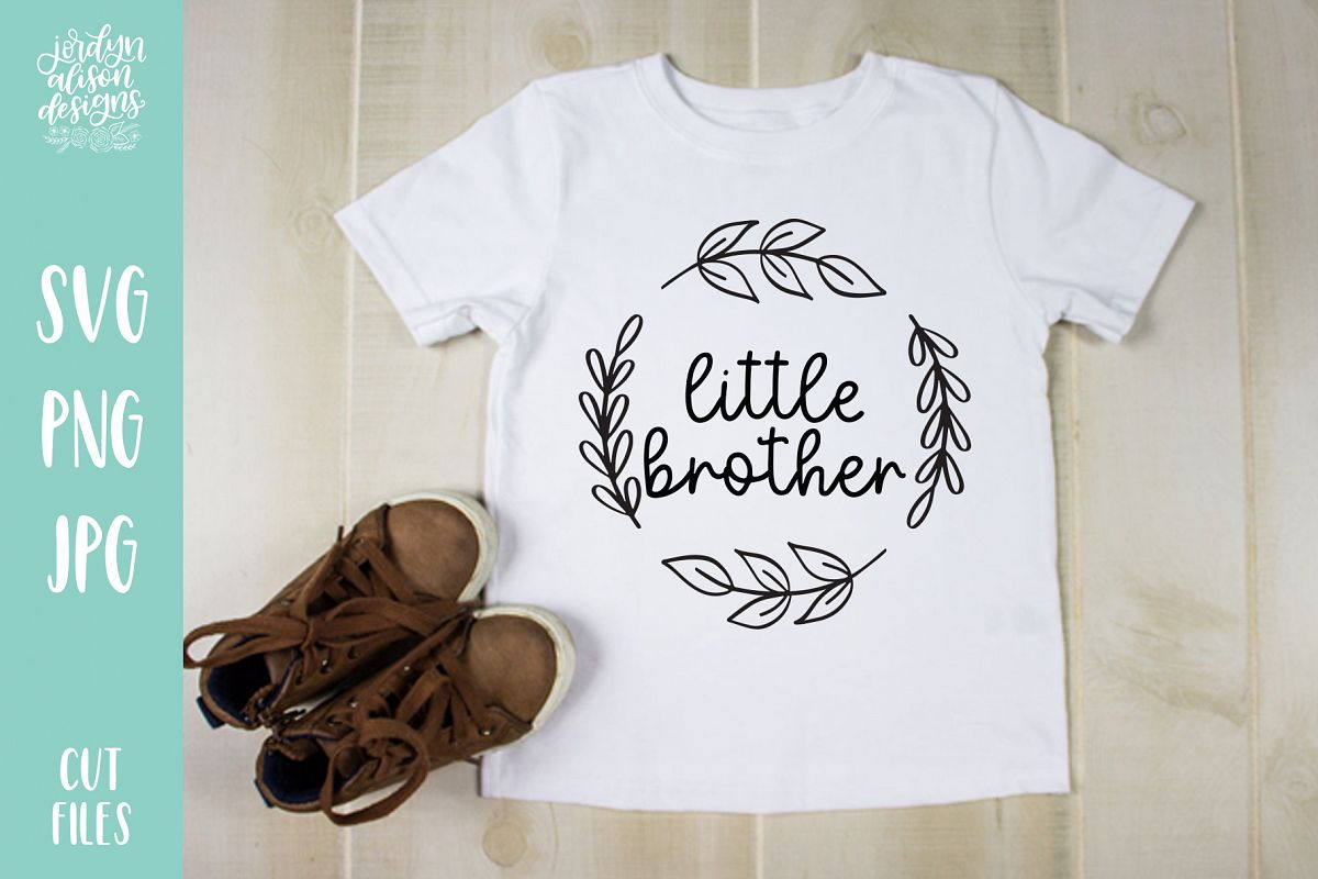 Little Brother, New Baby SVG Cut File example image 1
