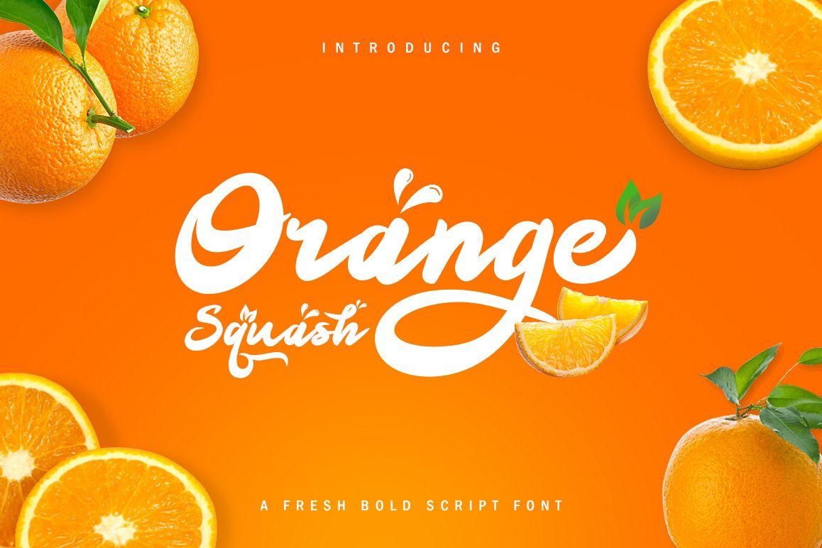Orange Squash Script example image 1