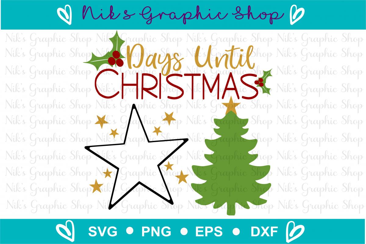 Countdown Svg, Christmas Svg, Santa Svg, Star Svg example image 1