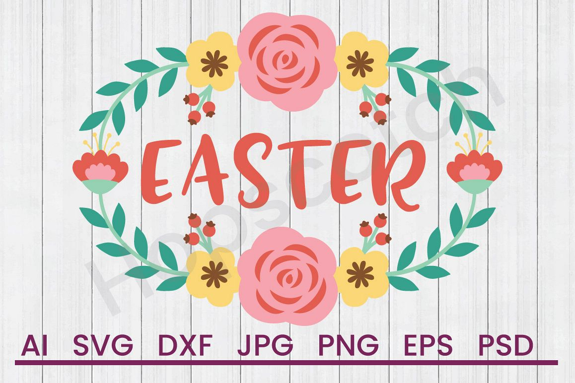 Banner SVG, Easter SVG, DXF File, Cuttatable File example image 1