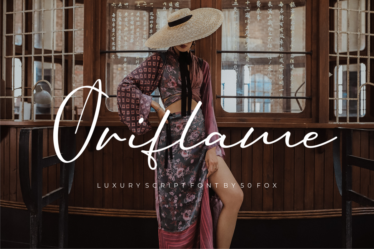 Oriflame Script Fonts example image 1