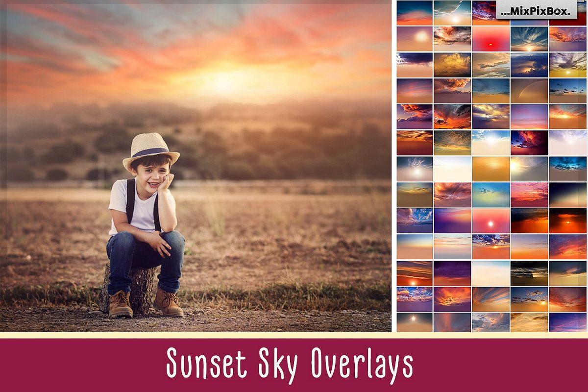 Sunset Sky Photo Overlays example image 1