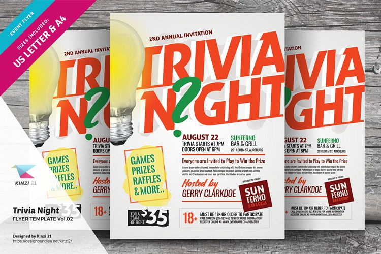 Trivia Night Flyer Template vol.02 example image 1