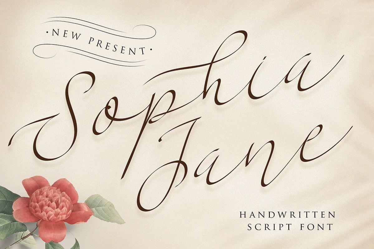 Sophia Jane Script example image 1