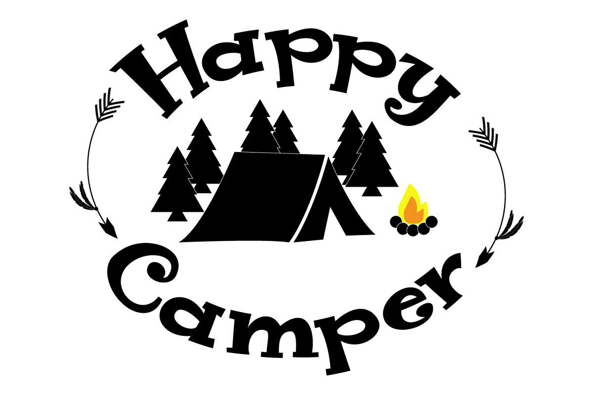 Happy Camper Svg Dxf Png Jpg Eps Vector File Cut Files Example Image