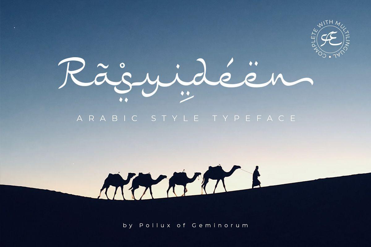 Rasyideen - Arabic Style Typeface example image 1