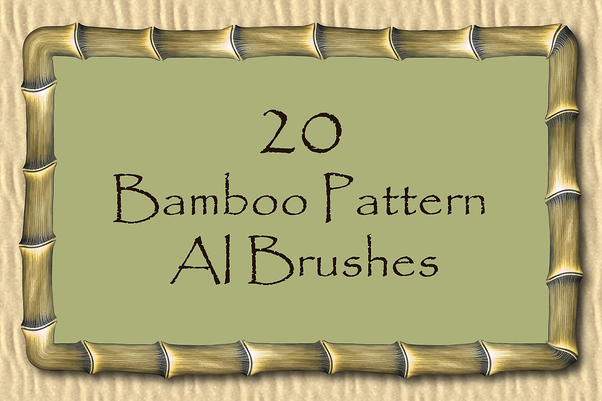 Trunk of Bamboo, Indian Cane - 20 Vector Pattern AI Brushes example image 1