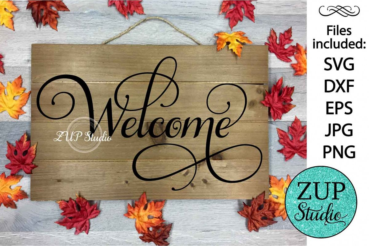 Welcome cutting files svg 21 example image 1